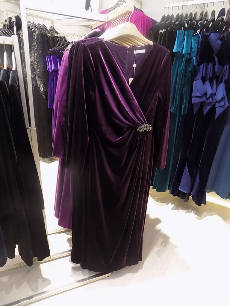 PETITE VELVET MAXI DRESS Item No. 010040086 £299.00 click to visit Jacques Vert