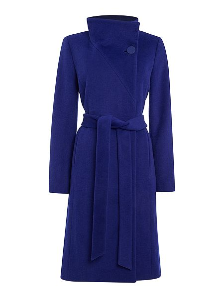 Pied a Terre Hallie Funnel Neck Coat  £149 click to visit House of Fraser