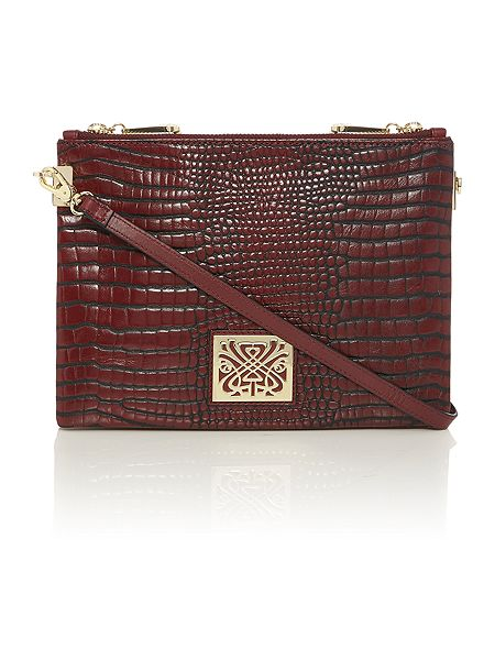 Biba Charlie double zip crossbody handbag £74 click to visit House of Fraser