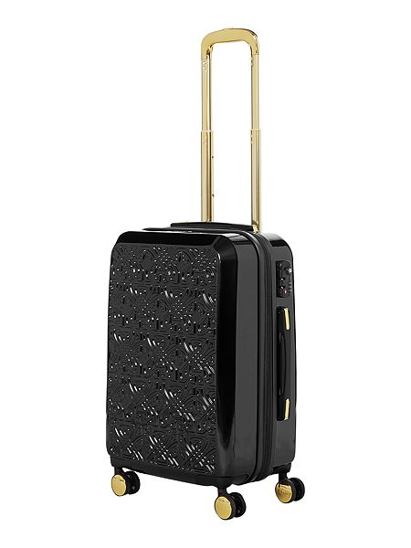 Biba Logo emboss black 8 wheel cabin case £115.50 click to visit House of Fraser