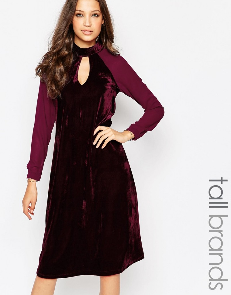 Glamorous Tall Halloween Velvet Keyhole Midi Dress with Sheer Sleeves £39.00 Click to visit ASOS