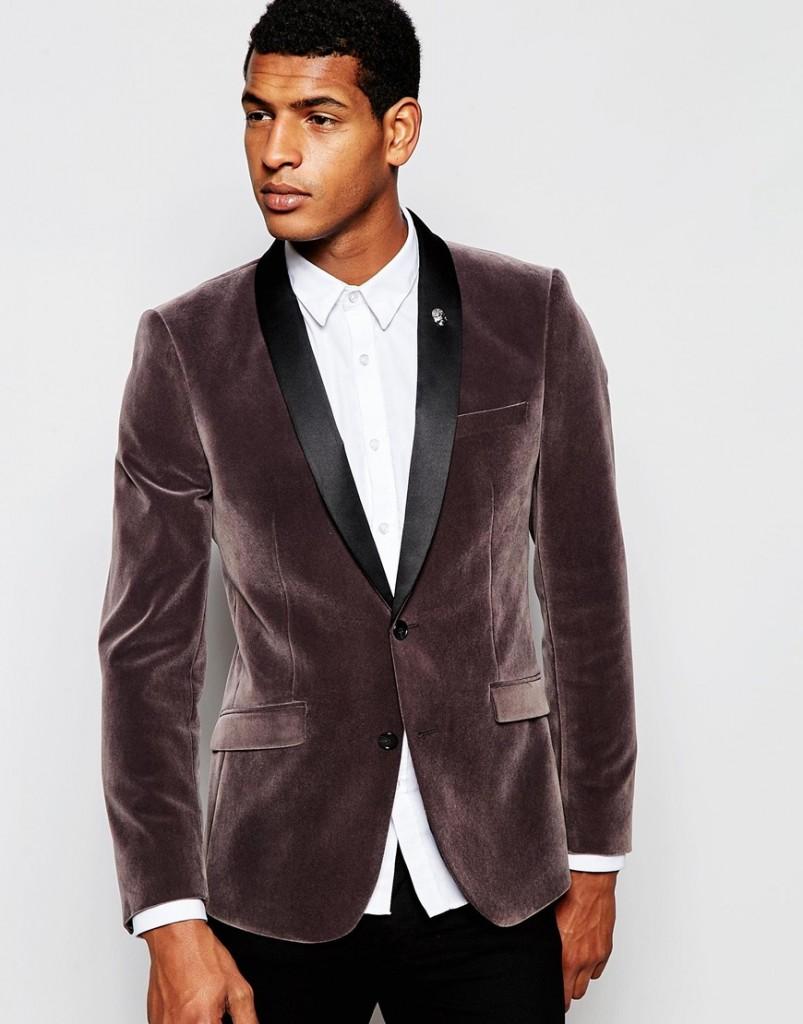 ASOS Skinny Blazer In Velvet £80.00 click to visit ASOS
