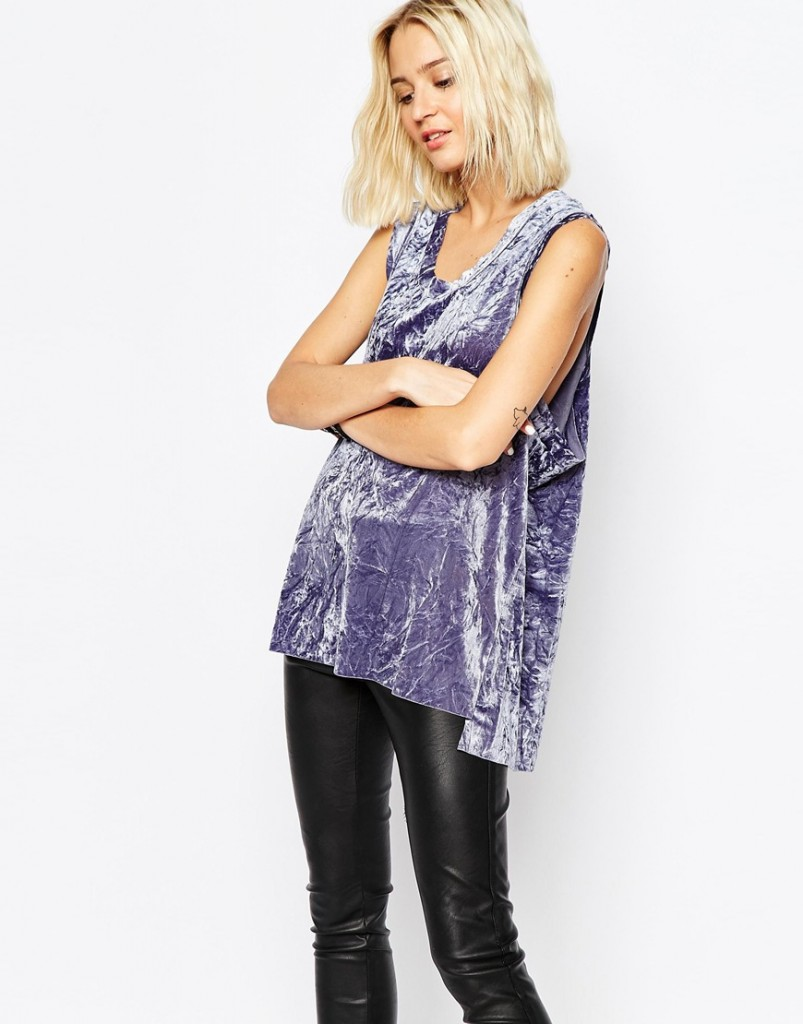 Cheap Monday Crushed Velvet Sleeveless Top £35.00 click to visit ASOS