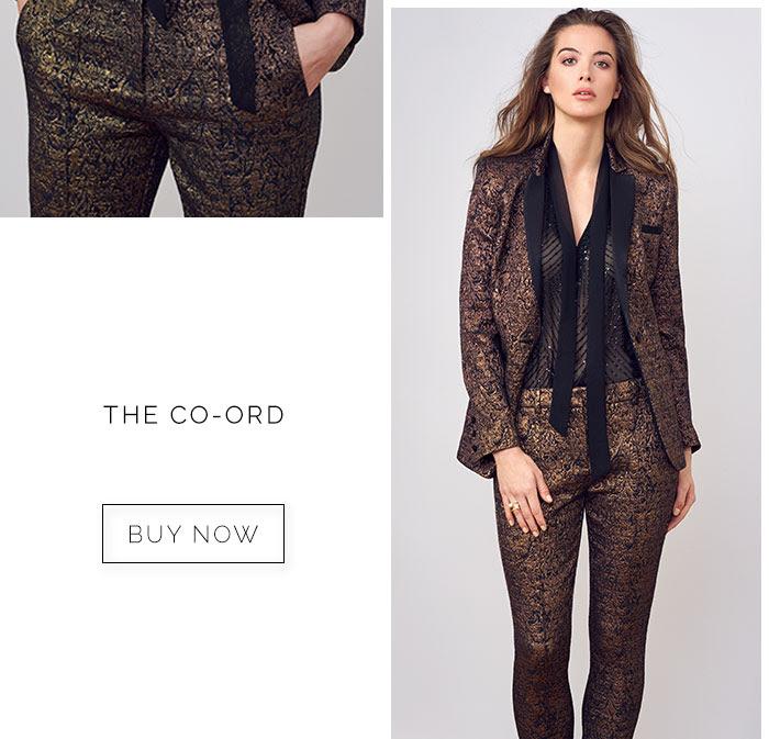 W Bronze Tux Jacket Price: £75.00 click to visit Wallis W Bronze Jacquard Trouser Price: £45.00 click to visit Wallis