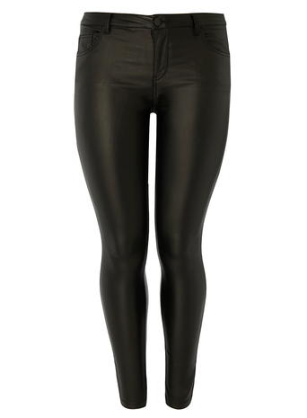 DP Curve Black PU Coated Jeans     Price: £28.00 click to visit Dorothy Perkins