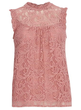 Pink Lace High Neck Top     Price: £24.00 Click to visit Dorothy Perkins