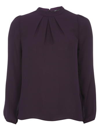 Purple High Neck Blouse     Price: £20.00 click to visit Dorothy Perkins