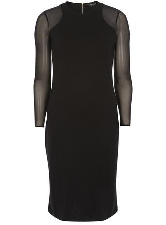 black mesh pencil dress     Price: £32.00     Colour: Black click to visit Dorothy Perkins