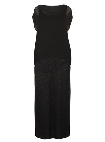 Live Unlimited Black Glitter Maxi Dress     Price: £95.00 click to visit Evans