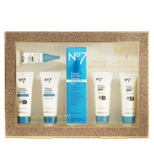 No7 Protect and Perfect Intense Collection £30 click to visit Boots