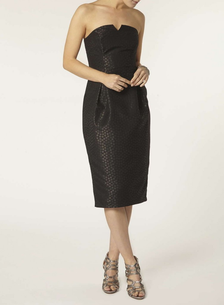 **Luxe Black Spot Bandeau Dress     Was £60.00     Now £45.00 click to visit Dorothy Perkins