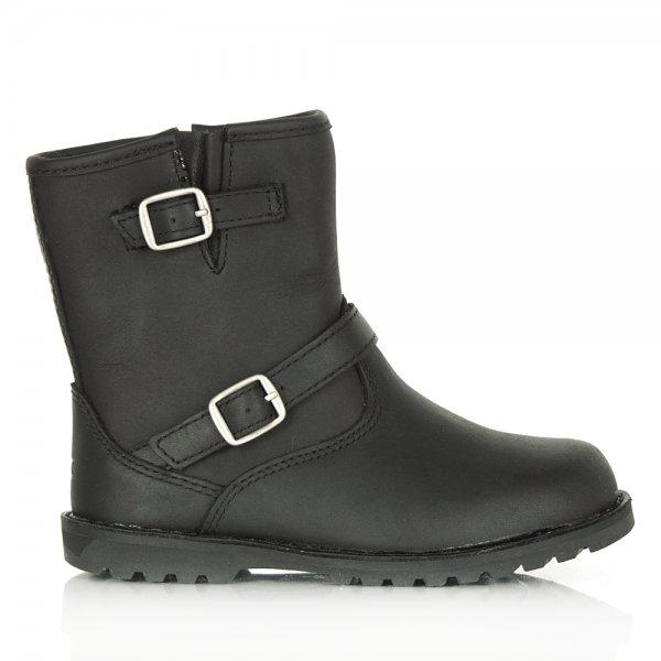 UGG® Australia Authorised Retailer Kids Harwell Black Leather Buckle Boot Code: KIDS HARWELL-Black-Leather £59.99 click to visit Daniel Footwear
