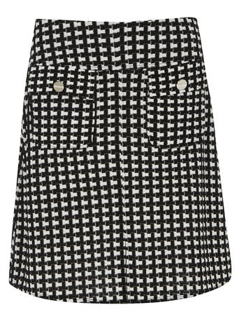 Mono Textured A-line Skirt     Price: £22.00 click to visit Dorothy Perkins