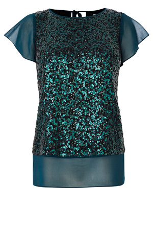 DELMANO SEQUIN TOP £69.00 click to visit Coast
