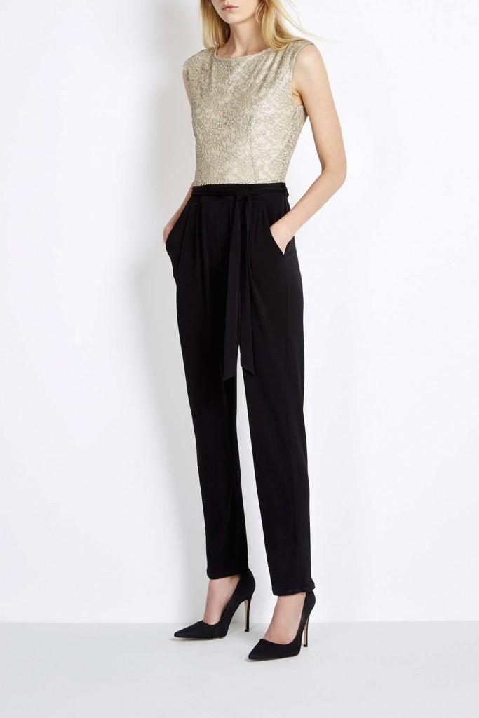Black Gold Lace Top Jumpsuit     Was £48.00 Now £23.00 click to visit Wallis