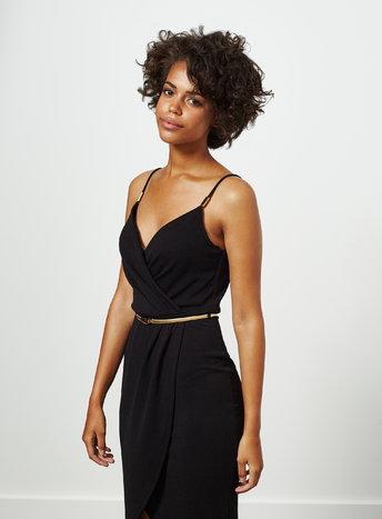 Black Wrap Pencil Dress     Was £39.00     Now £27.30 Click to visit Miss Selfridge