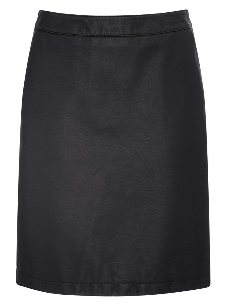 Black Faux Leather Skirt     Price: £25.00 Click to visit BHS