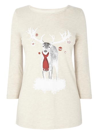 Oatmeal Stag Xmas Jersey Top     Price: £14.00 click to visit BHS
