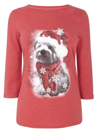 Red Snowdog Xmas Jersey Top     Price: £14.00 Click to visit BHS