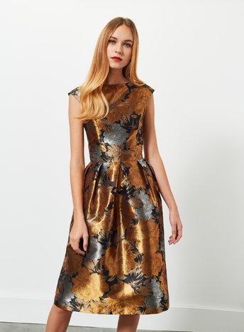 Floral Jacquard Prom Dress     Price: £65.00 Click to visit Miss Selfridge