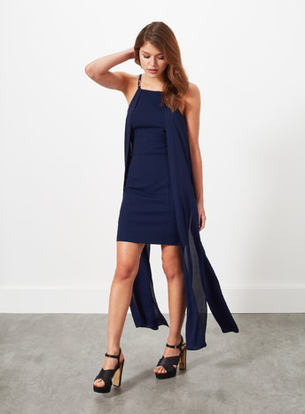 Navy Cape Maxi Dress     Price: £39.00 Click to visit Miss Selfridge