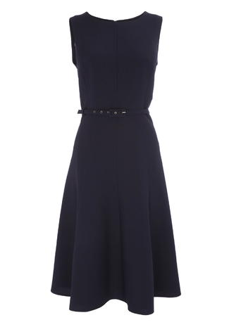Navy Mix & Match Fit and Flare Dress     Price: £26.00 Click to visit BHS