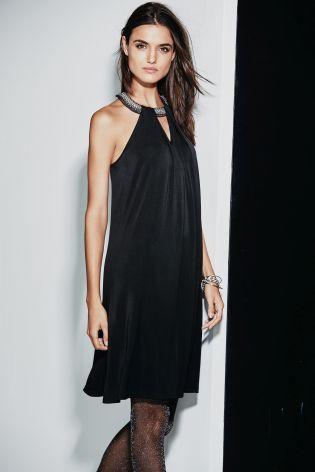 Black Embellished Neck Dress £46 click to visit Next