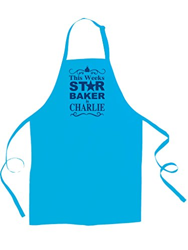 This Weeks Star Baker- Personalised with Your Name- children's / kids apron from Ice-Tees £9.95 Click to visit Amazon