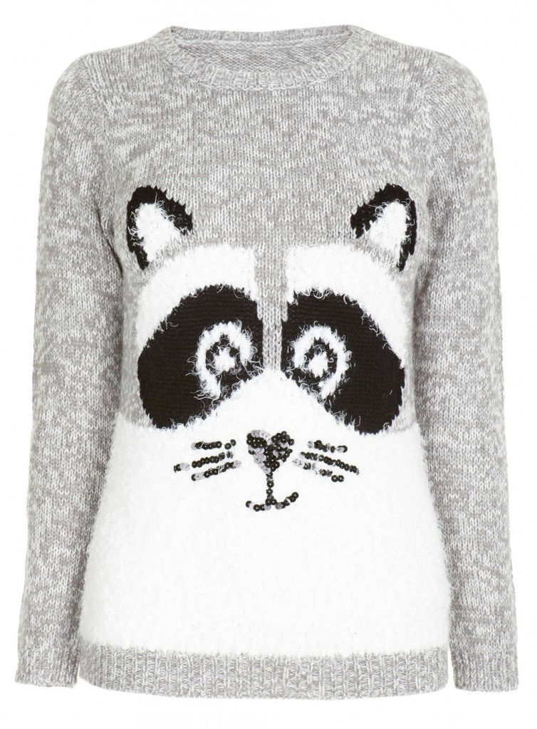 Petite Grey Racoon Jumper     Was £28.00 Now £19.60 Click to visit BHS