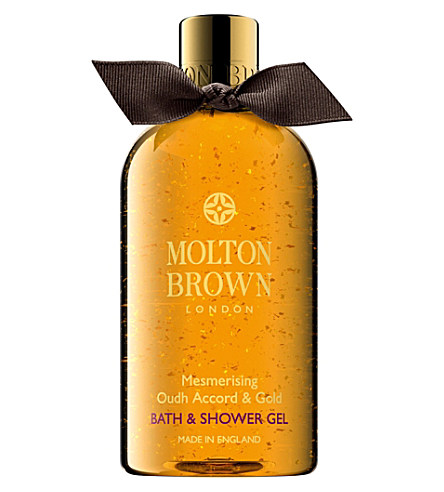 MOLTON BROWN Oudh accord and gold body wash - Christmas edition 300ml £20.00 Click to visit Selfridges