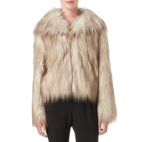 Zola Faux Fur Jacket £140.00 click to visit Phase Eight
