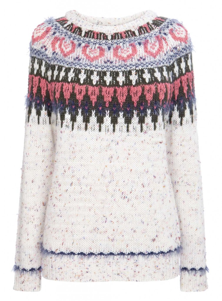 Ivory Fair Isle Yolke Jumper     Was £30.00 Now £21.00 Click to visit BHS