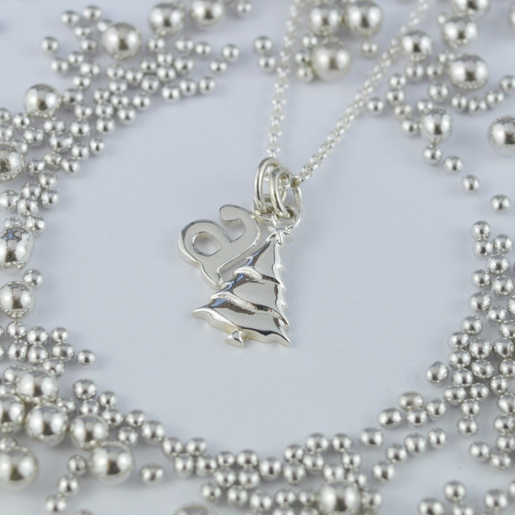 Silver Christmas Tree Necklace £28 click to visit Lily Charmed