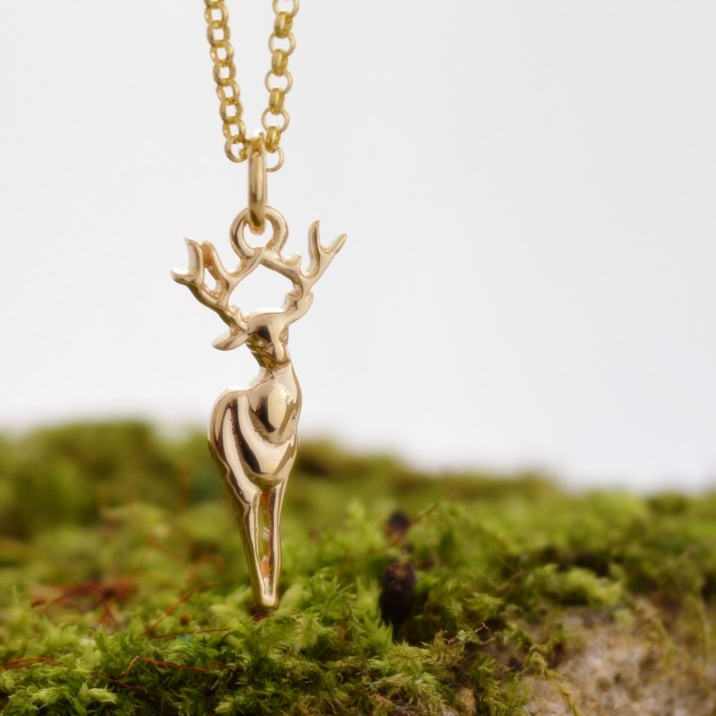 Gold Deer Necklace £38 click to visit Lily Charmed