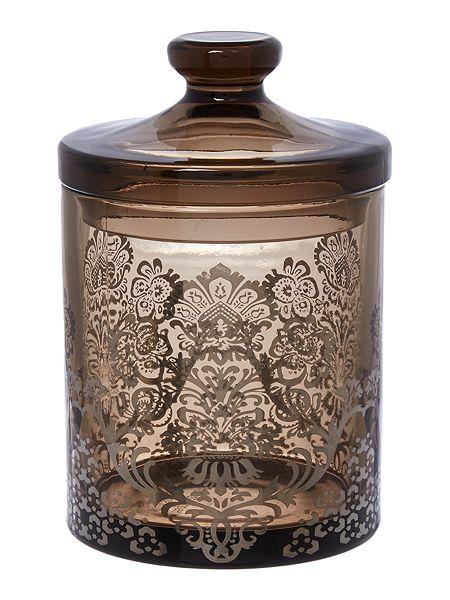 Linea DAMASK GLASS STORAGE JAR £10 click to visit House of Fraser