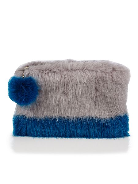 Helen Moore Opal & Kingfisher PomPom Clutch Bag now £44 Click to visit House of Fraser