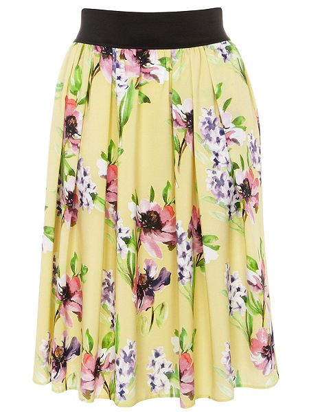 Evans Plus Size Printed Skirt £20 click to visit House of Fraser