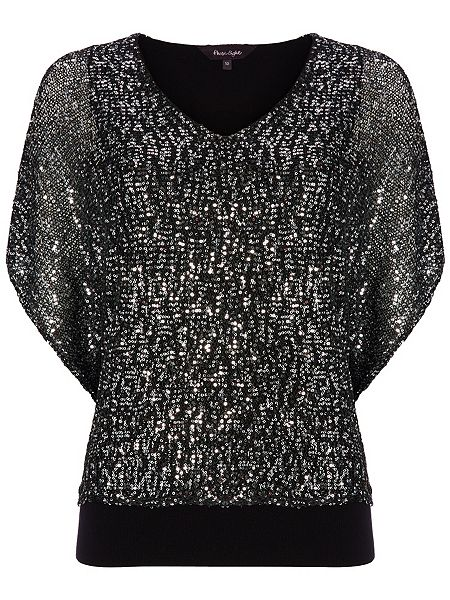 Antonella Sequin Double Layer Knit Top £85 click to visit Phase Eight