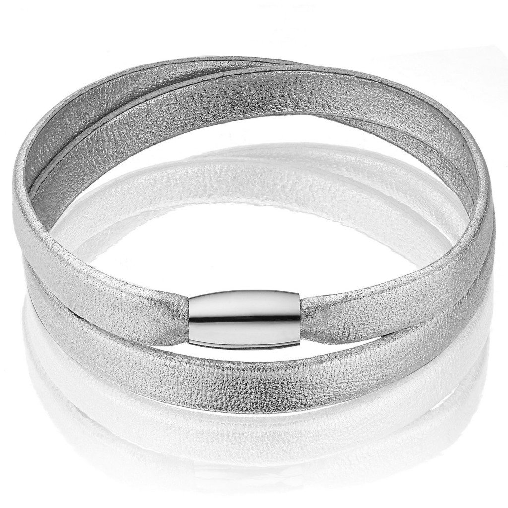 Leather Magnetic Bracelet - silver £39.00 Click to visit The White Company