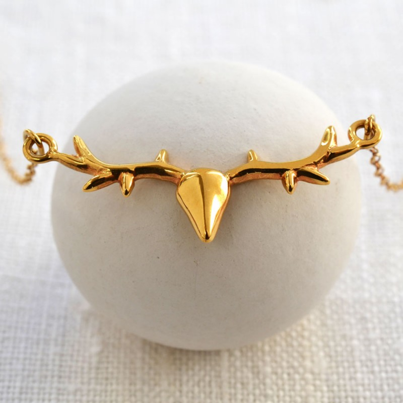Gold Stag Necklace £42 click to visit Lily Charmed