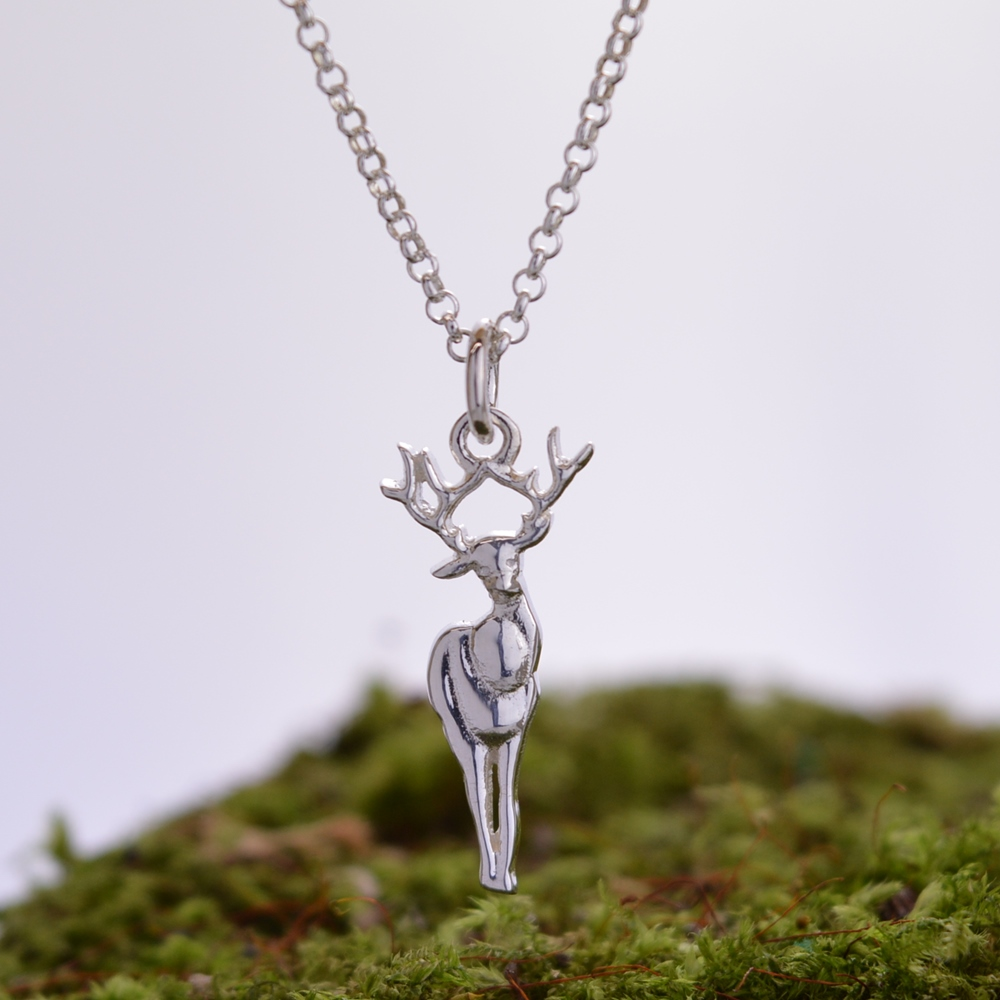 Silver Deer Necklace £28 click to visit Lily Charmed