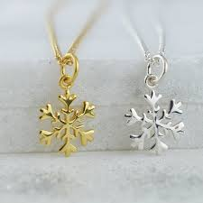 Gold Snowflake Necklace £40 click to visit Lily Charmed