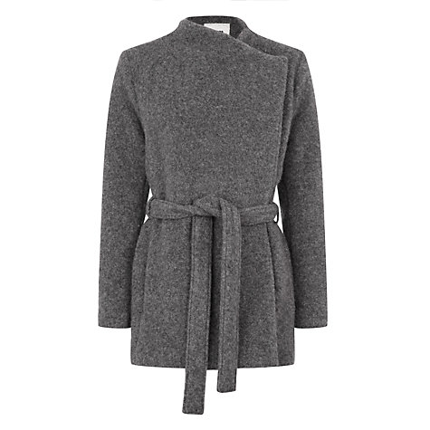 BZR Shessa Brushed Wool-Blend Coat, Grey £259 Click to visit John Lewis