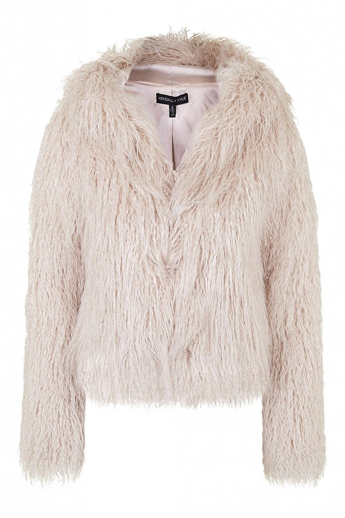 **Faux Fur Hooded Coat By Kendall + Kylie at Topshop     Price: £110.00 Click to visit Topshop