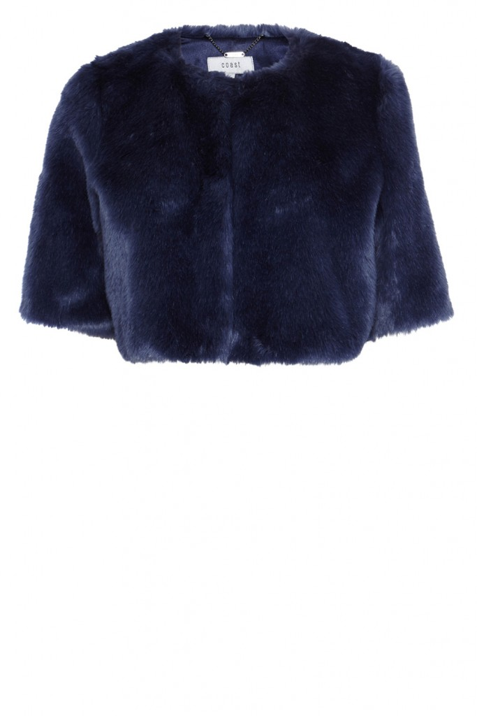 PRAGUE FAUX FUR COVER UP Now£59.00Was£85.00 Click to visit Coast
