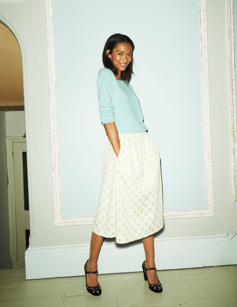 Sparkle Spot Jacquard Skirt  Was £69.00 Now £51.75 Click to visit Boden