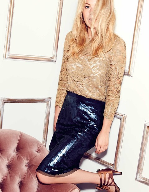 Statement Sequin Skirt  Was £129.00 Now £96.75  Click to visit Boden