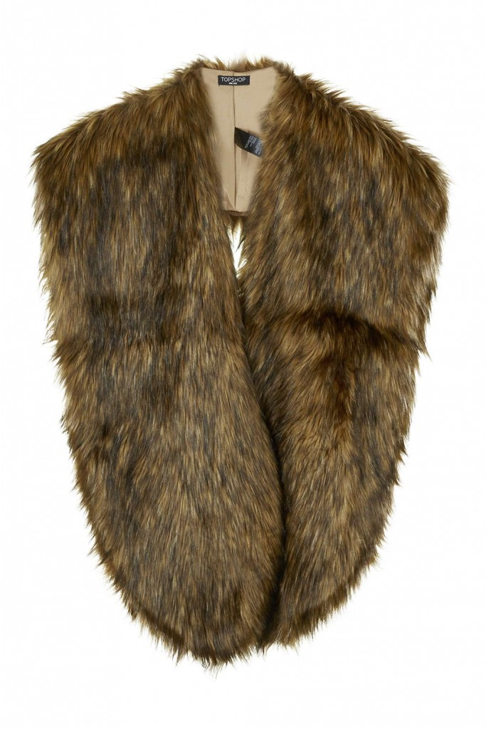 Oversized Faux Fox Stole     Price: £55.00 Click to visit Topshop