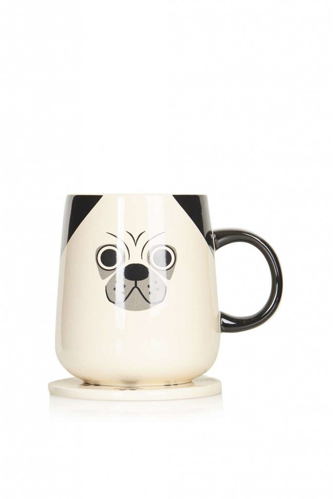 Pug Coaster Mug Price: £10.00 Click to visit Topshop