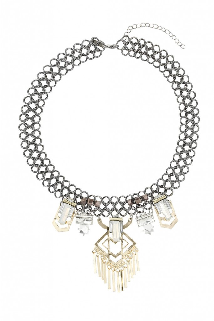 Geometric Chain Collar     Price: £15.00 Click to visit Topshop